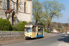 Gepriesen sei der Zweiachser (trainspotter64) Tags: strasenbahn tram tramway tranvia tramvaj tramwaje streetcar brandenburg woltersdorf gotha frühling