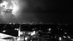 Fireball Over Miami (MerperC) Tags: miami florida miamifl skyline night lightning fireball usa city urban fireinthesky