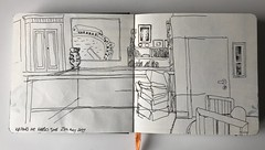 Inside Kettle's Yard (Eyeshoot Photography) Tags: usk uskmanchester urbansketch urbansketching cambridge kettlesyard moleskinewatercoloursketchbook