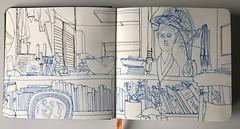 Busy Shelf (Eyeshoot Photography) Tags: usk uskmanchester urbansketch urbansketching cambridge moleskinewatercoloursketchbook