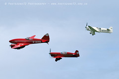 8902 Comet & Mew Gulls (photozone72) Tags: shuttleworth oldwarden aviation aircraft airshows airshow canon canon7dmk2 canon100400f4556lii 7dmk2 dehavilland dehavillanddh88comet dh88 mewgull