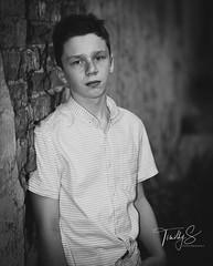 Ethan Street Shot (Timothy S. Photography) Tags: johnsoncity tennessee unitedstatesofamerica kids teen street teenmodel kid serious bw blackwhite whiteblack