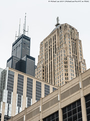 Willis Tower and CBOT (20190526-DSC03731) (Michael.Lee.Pics.NYC) Tags: chicago architecture cityscape willistower cbot chicagoboardoftrade sony a7rm2 fe24105mmf4g