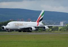 A6-EUG Emirates (Gerry Hill) Tags: glasgow air airport gerry hill scotland d90 d80 d70 d7200 d5600 bridge nikon aircraft aeroplane international airline gla egpf airplane transport a6eug emirates airbus a380861 a380 861
