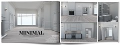 MINIMAL - White Apartment (MINIMAL Store) Tags: minimal cosmopolitan anniversary eventsl second life sl apartment decoration home