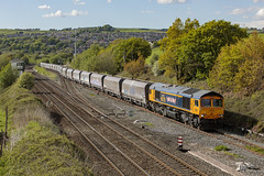 20190511_IMG_6314 (PowerPhoto.co.uk) Tags: gbrailfreight gbrf class66 diesel locomotive 66725 sunderland newmillssouthjunction newmills 4h04 freighttrain stonetrain train railway
