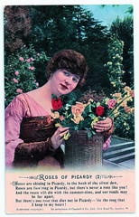 Roses of Picardy - 2 (pepandtim) Tags: postcard old early nostalgia nostalgic 94rse42 roses picardy bamforth holmfirth england new york frederick weatherly haydyn wood 1916 chappell
