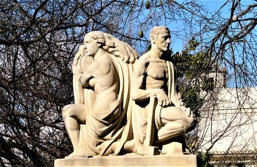 Fuente del Poeta Querol en los Jardines del Real o Jardín de Viveros - Valencia