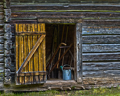 The Shed (AChucksEyeView) Tags: old world wisconsin rustic period shed hdr wood log history