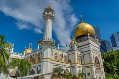 Sultan Mosque on Arab Street in Singapore (UweBKK (α 77 on )) Tags: sultan mosque masjid religion religious muslim islam belief building house architecture gold dome arabstreet arab street north bridge road worship singapore southeast asia sony alpha 77 dslr slt