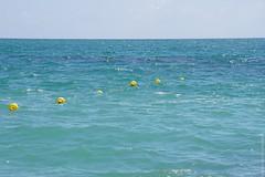 Floaties (jambrosio) Tags: swimmingtrunks horizonoverwater swimwear vacations swimmingshorts beach ocean beachball boat onepieceswimsuit watersport bermudashorts
