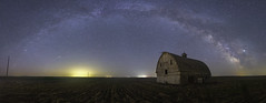 Eye of the Dark Horse (Flint Roads) Tags: jupiter milkyway usa wa washington abandoned barn cupola decay deteriorated field forsaken lights night nightsky old panorama rows rural shadow stars telephonepole