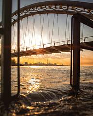 Overflow (Paul Flynn (Toronto)) Tags: toronto water flood flooding lake ontario humber bay city bridge bike bicycle sunrise morning cn tower dawn