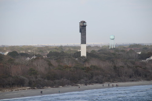 Charleston Lighthouse (Sullivan's Island Lighthouse, South Carolina) - From the Royal Caribbean Grandeur of the Seas -  February 16th, 2019