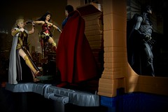 Paprihaven 1511 (MayorPaprika) Tags: canoneos50d ef28135mmf3556isusm 112 toy story paprihaven action figure diorama set custom mattel dc comics multiverse queenhippolyta mezco one12 wonderwoman icons superman mafex medicom batman vs waynemanor batcave rooftop night