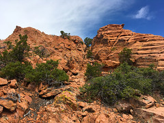 Navajo Sandstone in the Motaqua-Gunlock area, disturbed (left) and undisturbed sandstone side by side (swissuki) Tags: geology gunlock mountains motaqua sandstone stgeorge navajo usa ut utah