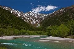 HOTAKA Peaks (tez-guitar) Tags: snow peaks stream river water wood forest shinshu nagano kamikochi leica leicacl varioelmar1856