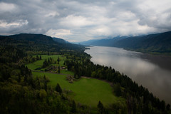 Columbia River Gorge (NW Vagabond) Tags: washington columbiariver gorge 2019 green lush river farm trees clouds overcast spring