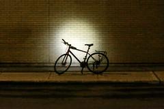 Night ride / La ballade nocturne (Jacques Lebleu) Tags: bicyclette lampe éclairage nuit louvain montréal