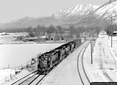 Winter Wonderland (jamesbelmont) Tags: riogrande drgw emd gp30 train railroad railway locomotive mttimpanogos springville utah gp40 manifest