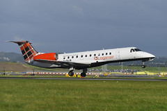 G-SAJB Embraced 135ER EGPH 02-06-19 (MarkP51) Tags: gsajb embraer 135er loganair lm log edinburgh airport edi egph scotland aviation airliner aircraft airplane plane image markp51 sunshine sunny planeporn d500 nikonafp70300fx