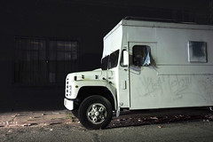 White truck (ADMurr) Tags: la eastside night truck white leica m240 35mm zeiss 28 zm m0004886