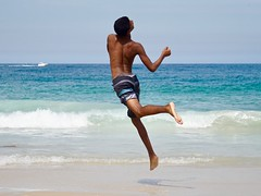Jump (alobos life) Tags: jump action copacabana nice beautiful cute brazilian boy garoto rio de janeiro brasil brazil skinny beach playa mar sea