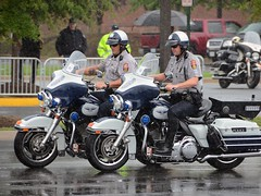 Riding in the Rain (John by the Sea) Tags: uniform helmet police harley cop motorcycle officer lawenforcement policeman policemen motorcop policerodeo mapmrc