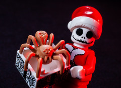 You wanted a pet? (Chris Blakeley) Tags: jackskellington santa spider christmas nightmarebeforechristmas lego minifigure minifig