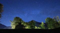 Little church under stars (Ben_F.) Tags: saintjeandaulps chablais frenchalps france night nuit étoiles stars chapelle church valléedaulps flickrfriday remembrance