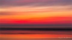 Summer heat! (karindebruin) Tags: annemarie nederland ouddorp sigrid thenetherlands zonsondergang zuidholland beach laagwater lowtide reflectie reflection sand strand sunset zand abstract colors movement beweging icm
