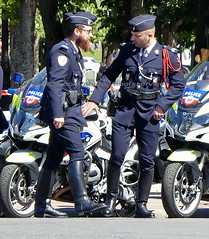 "bootsservice 19 2020594 (bootsservice) Tags: police policeman policemen policier policiers ""police officier nationale"" paris uniform boots moto bmw motorcycle biker uniforms officer bottes motard uniforme motorcyclists motards uniformes motorbiker ""riding boots"""