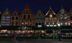 Bruges Markt by Night (kylewagaman) Tags: markt buildings architecture europe restaurants bruges brugge brügge westflanders westvlaanderen flandreoccidentale flanders flemish vlaanderen flandre flandern belgium belgië belgique belgien night