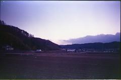 (✞bens▲n) Tags: leica m4 kodak ektapress 100 rokkor 40mm f2 film landscape japan nagano fields evening sky