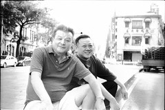 Happy guys sitting and chatting in a special location. #taipei #Taiwan #FILM #filmphotography #bk #blackandwhite  #analogphotography #ANALOG #FILM #ilfordhp5 #ilford #hp5 #streetmoments #street #culture #台北 #台灣 #街頭 #底片 #first #experiment #sidewalk #guys # (caillou wang) Tags: taipei 北門 streetmoments analogphotography bk caiimagesstudio smile ilford blackandwhite experiment street 底片 35mm 人像 sidewalk film analog ilfordhp5 街頭 filmphotography hp5 portrait 台北 culture taiwan guys 台灣 caillouwang first