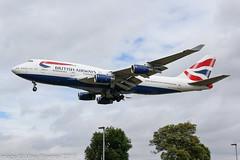 G-CIVT - 1998 build Boeing B747-436, on approach to Runway 27L at Heathrow (egcc) Tags: 1149 25821 b744 b747 b747400 b747436 ba baw boeing boeing747 britishairways egll gcivt heathrow jumbojet lhr lightroom london