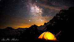 Milky Way over the alps (NaPhi Media) Tags: alps austria milky way galaxy österreich vorarlberg tent epic light stars comet german deutsch swiss schweiz clouds night mountains high pollution field nachthimmel sony alpha 7m2 naphi media