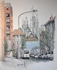 Sydney (Peter Rush - drawings) Tags: beulahstwharf urbansketcherssydney usk urbansketchers urbansketch drawing sketch kirribilli sydneyharbour australia sydney sydneyoperahouse