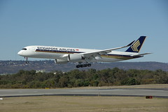 Singapore Airlines A350 (barnettmark39) Tags: perthairport singaporeairlines a350