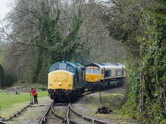 Class 37 142 - Bodmin Parkway (StarRaid) Tags: railways rail uktrains uk britishrailways trains class37 brblue englishelectric emd