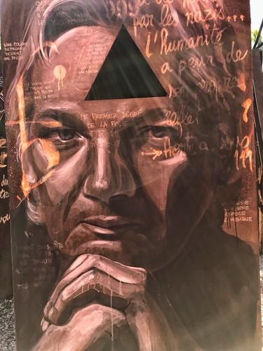 Julian ASSANGE - painted portrait -