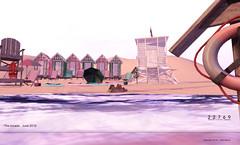 22769 - Pastel Beach for The Arcade : June 2019 (manuel ormidale) Tags: beach summer relax towels lifeguard animations arcade thearcade buoy torpedobuoyoutdoor decoration changinghud radio transistorradio vintage shabby shabbychic