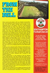 Southampton vs Manchester United - 1983 - Page 3 (The Sky Strikers) Tags: southampton manchester united football league division one the dell saints canon official programme 40p