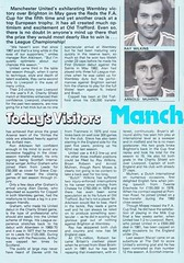 Southampton vs Manchester United - 1983 - Page 4 (The Sky Strikers) Tags: southampton manchester united football league division one the dell saints canon official programme 40p