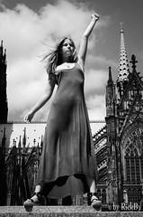 Lady Liberty of Cologne (RickB500) Tags: rickb rickb500 nastya paloma dasha cute blonde nudeart cupa portrait girl odwn köln cologne nip nudeinpublic street outdoors