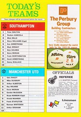 Southampton vs Manchester United - 1983 - Back Cover Page (The Sky Strikers) Tags: southampton manchester united football league division one the dell saints canon official programme 40p