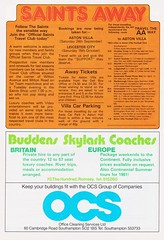 Southampton vs Manchester United - 1983 - Page 22 (The Sky Strikers) Tags: southampton manchester united football league division one the dell saints canon official programme 40p