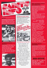 Southampton vs Manchester United - 1983 - Page 16 (The Sky Strikers) Tags: southampton manchester united football league division one the dell saints canon official programme 40p