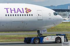 Thai Airways International Boeing 777-3D7(ER) HS-TKV Suchitra (721594) (Thomas Becker) Tags: thaiairwaysinternational บริษัทการบินไทยจำกัด 泰國航空 thai tha boeing b777 777 3d7 300 er b77w 77w hstkv suchitra สุจิตรา staralliance cn42111 ln1215 120614 100714 goldhofer ast1 pushback truck fraport flughafen airport aeroport aeropuerto aeroporto fra eddf frankfurt plane spotting aircraft airplane avion aeroplano aereo 飞机 vliegtuig aviao аэроплан samolot flugzeug germany deutschland hessen rheinmain nikon d7200 nikkor 80400g dx raw gps aviationphoto cthomasbecker 190601 taxiing profile geotagged geo:lat=50039523 geo:lon=8596970 aerotagged aero:airline=tha aero:man=boeing aero:model=777 aero:series=300 aero:special=er aero:tail=hstkv aero:airport=eddf