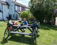 Pub lunch stop near Malvern Hills